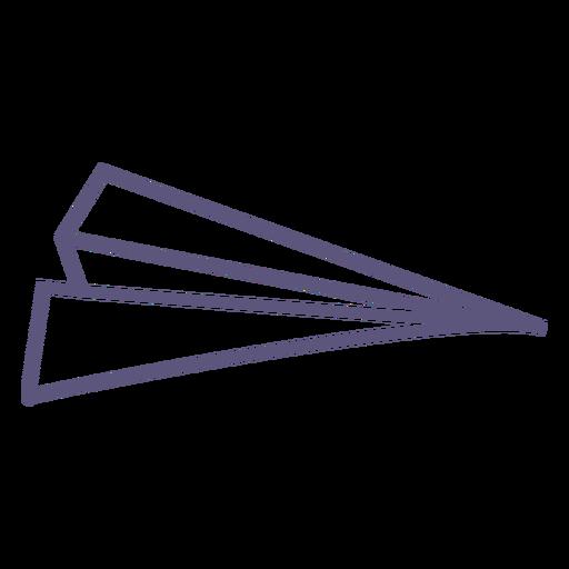 Paper plane stroke icon
