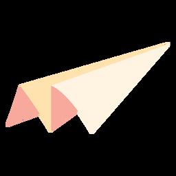 Icono plano de papel avión juguete