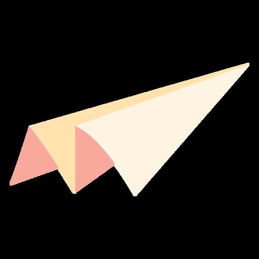 Icono plano de juguete de avión de papel