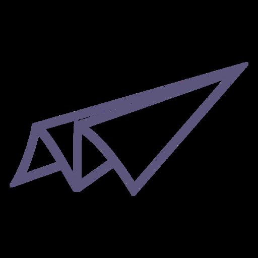 Paper plane toy stroke icon