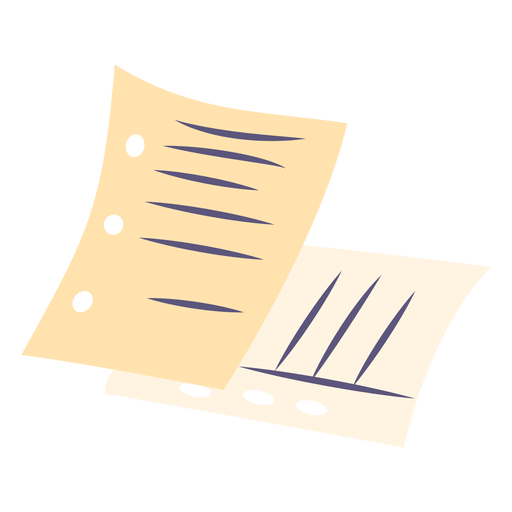 Paper sheets flat icon