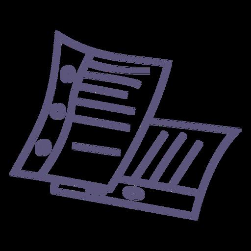 Paper sheets stroke icon