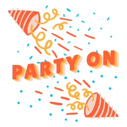 Party on lettering birthday