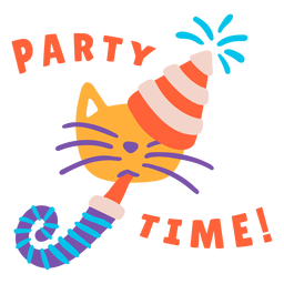 Party time lettering birthday