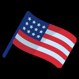 Elemento patriótico de la bandera americana