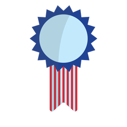 Patriotic award ribbon element