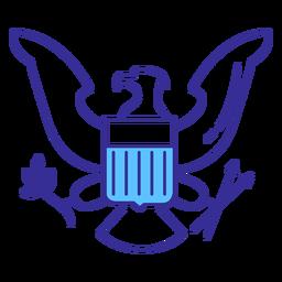 Elemento patriota de águila patriótica