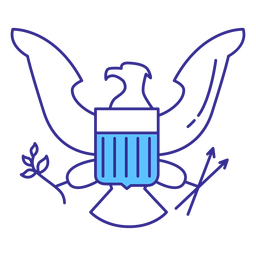 Patriotic eagle badge element