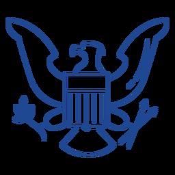 Patriotic eagle badge stroke