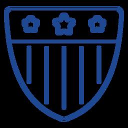 Patriotic emblem stroke