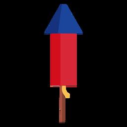 Elemento de cohete de fuegos artificiales patriótico