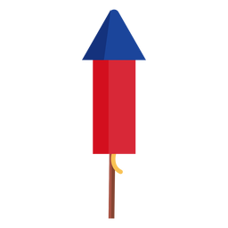 Patriotic firework rocket element