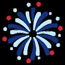 Elemento patriótico de fogos de artifício