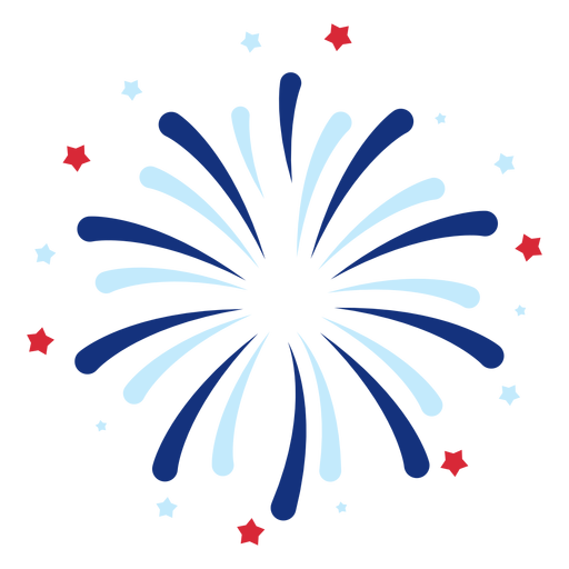 Elemento de fogos de artifício patriótico