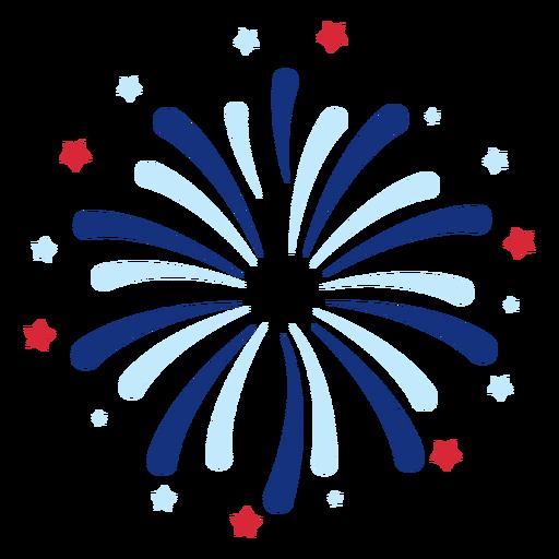 Patriotic fireworks element