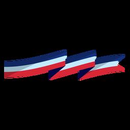 Patriotic flag colors ribbon element