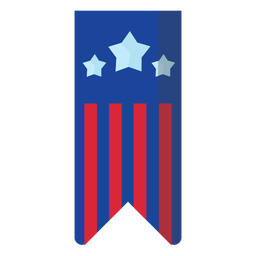 Elemento de banner colgante patriótico