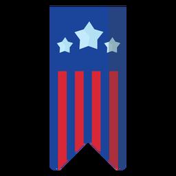 Patriotic hanging banner element
