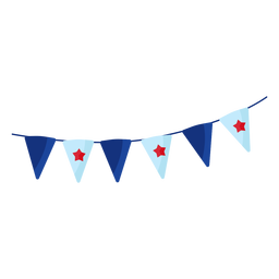 Patriotic pennant banner element
