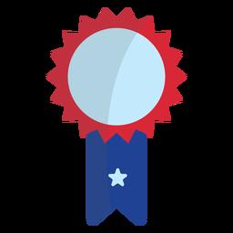 Patriotic rosette ribbon element