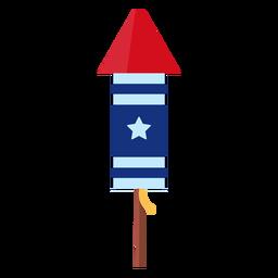 Elemento de foguete patriótico estrela fogo de artifício
