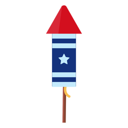 Patriotic star firework rocket element