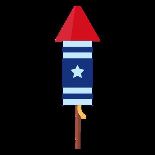 Elemento de cohete de fuegos artificiales estrella patriótica