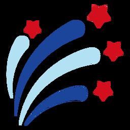 Elemento de explosión de fuegos artificiales de estrellas patrióticas