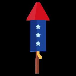 Elemento de foguete de estrelas de fogo de artifício patriótico