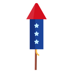 Patriotic stars firework rocket element