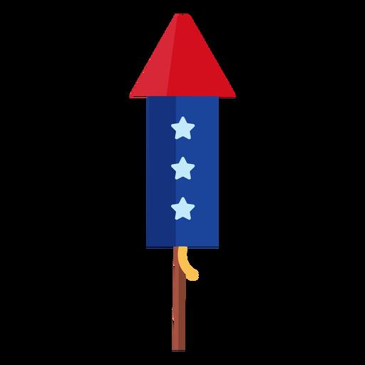 Elemento de cohete de fuegos artificiales de estrellas patrióticas
