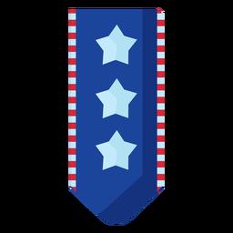 Elemento de banner colgante de estrellas patrióticas
