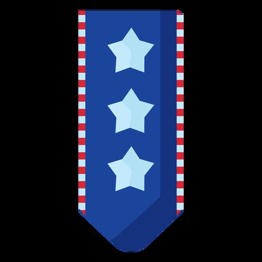 Estrellas patrióticas colgando elemento de banner Transparent PNG