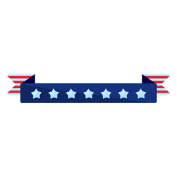 Patriotic stars ribbon element