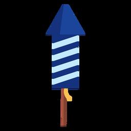 Elemento patriótico de cohetes de fuegos artificiales a rayas