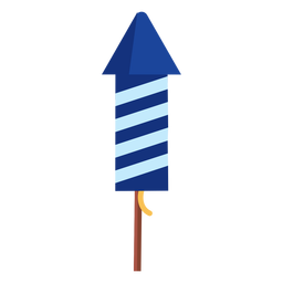 Patriotic striped firework rocket element