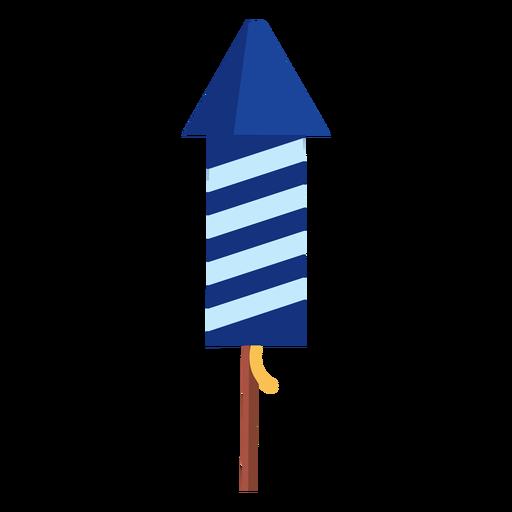 Elemento de cohete de fuegos artificiales a rayas patriótico
