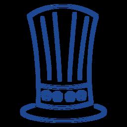 Patriotic top hat stroke