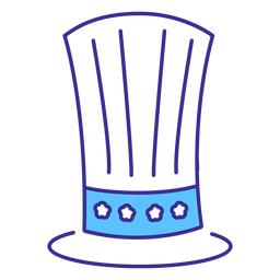 Elemento de trazo de sombrero de copa patriótico