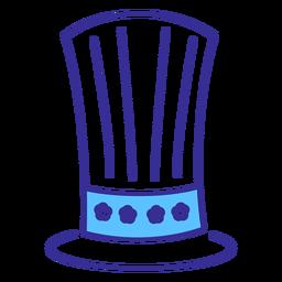 Patriotic top hat stroke element