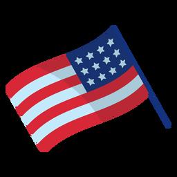 Elemento de bandera patriótica de Estados Unidos