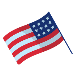 Patriotic usa flag element