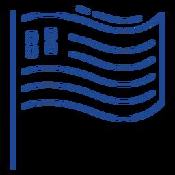 Patriotic usa flag stroke