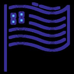 Elemento de traçado de bandeira patriótica dos EUA