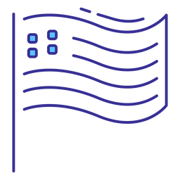 Patriotic usa flag stroke element