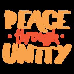 Frieden durch Einheitsbeschriftung