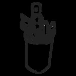 Doodle de taza de lápiz
