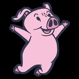 Schwein springen Cartoon