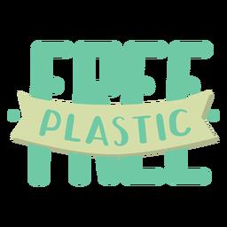 Plastic free lettering