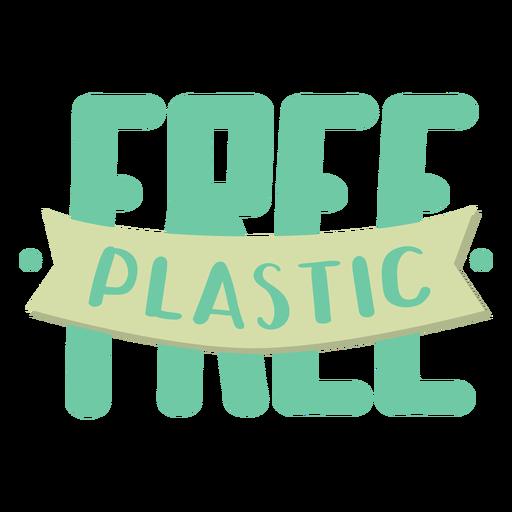 Letras libres de plástico